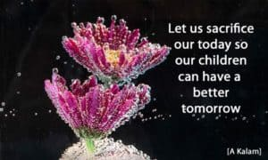 Quote: Let us sacrifice our...