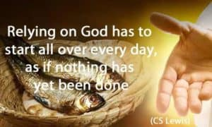 Quote: Relying on God has...