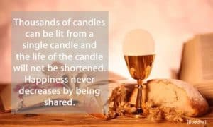 Quote: Thousands of candles...