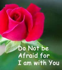 "Quote: ""Do not be afraid..."""