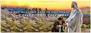 Leper Praising God
