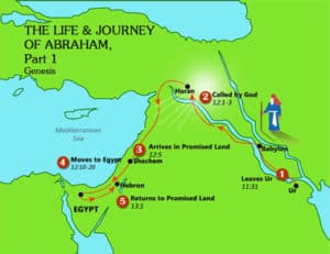 Map: Abraham's Life and Journey