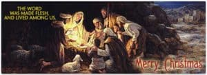 Merry Christmas - Christmas Scene