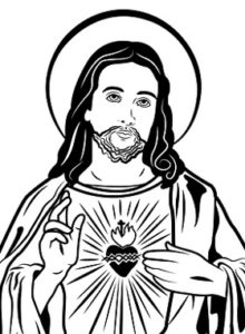 Sketch: Sacred Heart of Jesus
