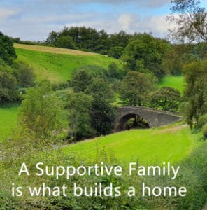 "Inspiring Quote ""A supportive family..."""